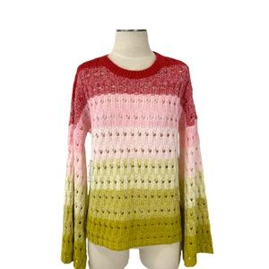 Tularosa- Let Go Ombré Wool Blend Sweater Small